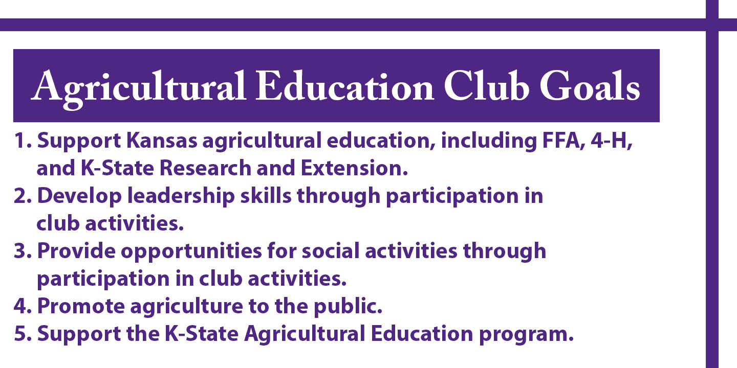 Agricultural Education Club Goals.