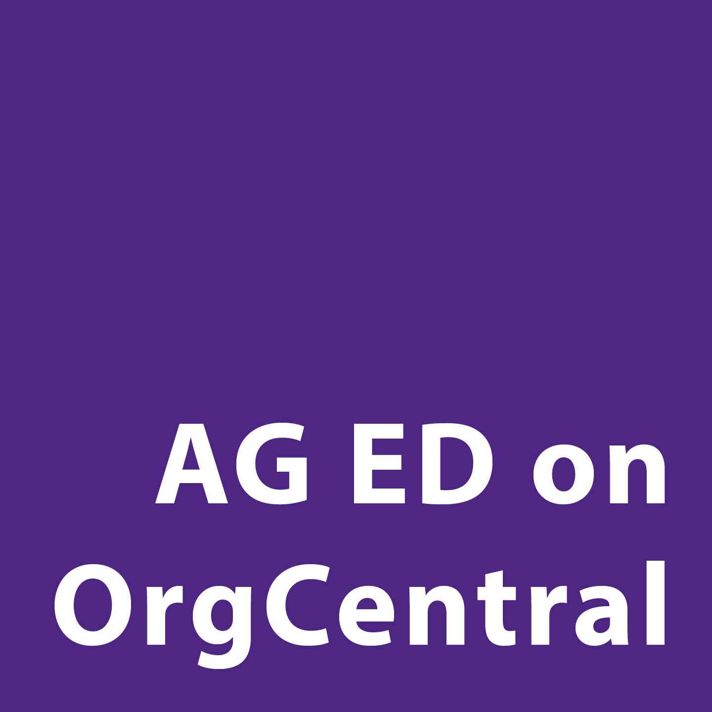 Ag Ed on Org Central