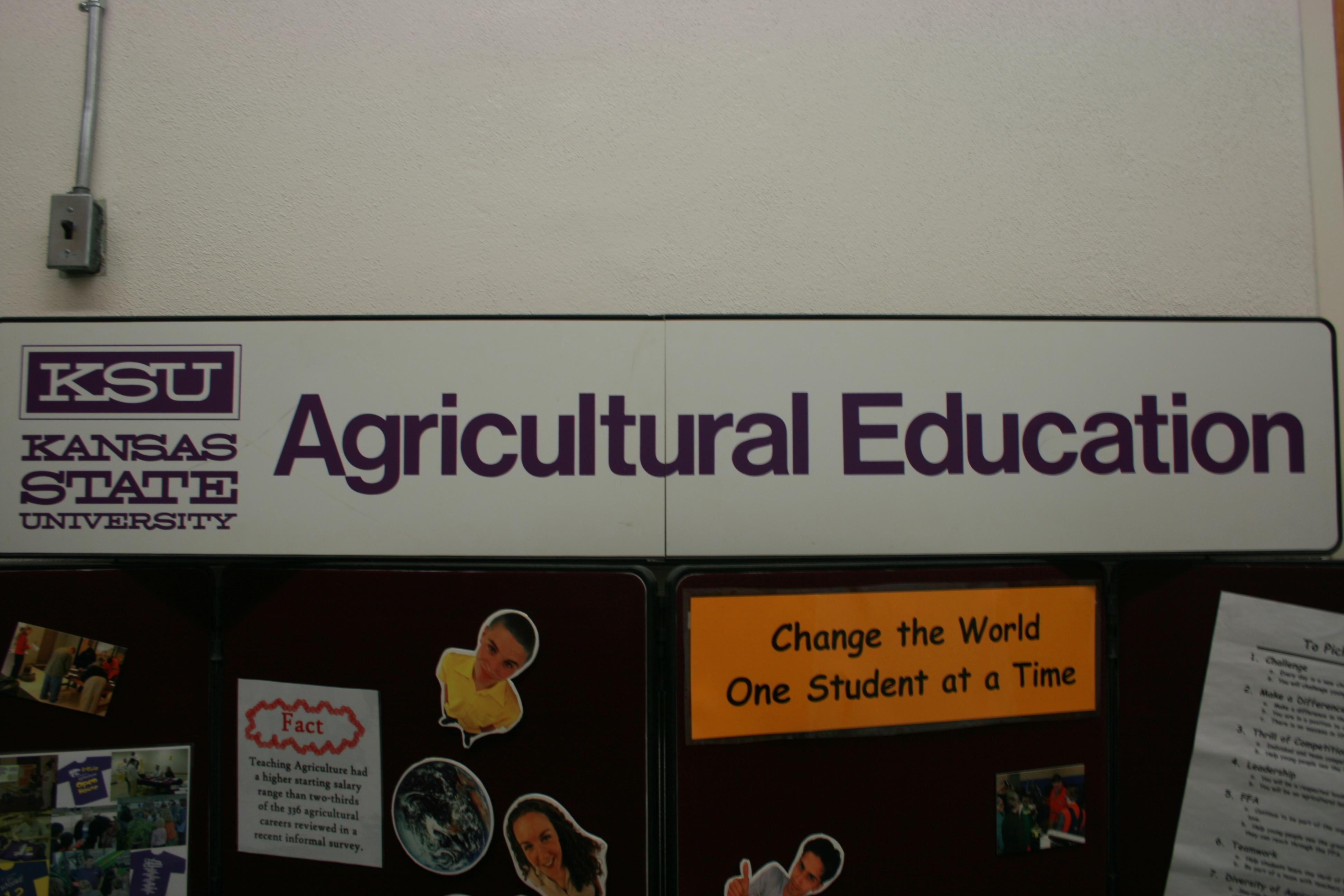 Agricultural Education Header Attachment to Display Board