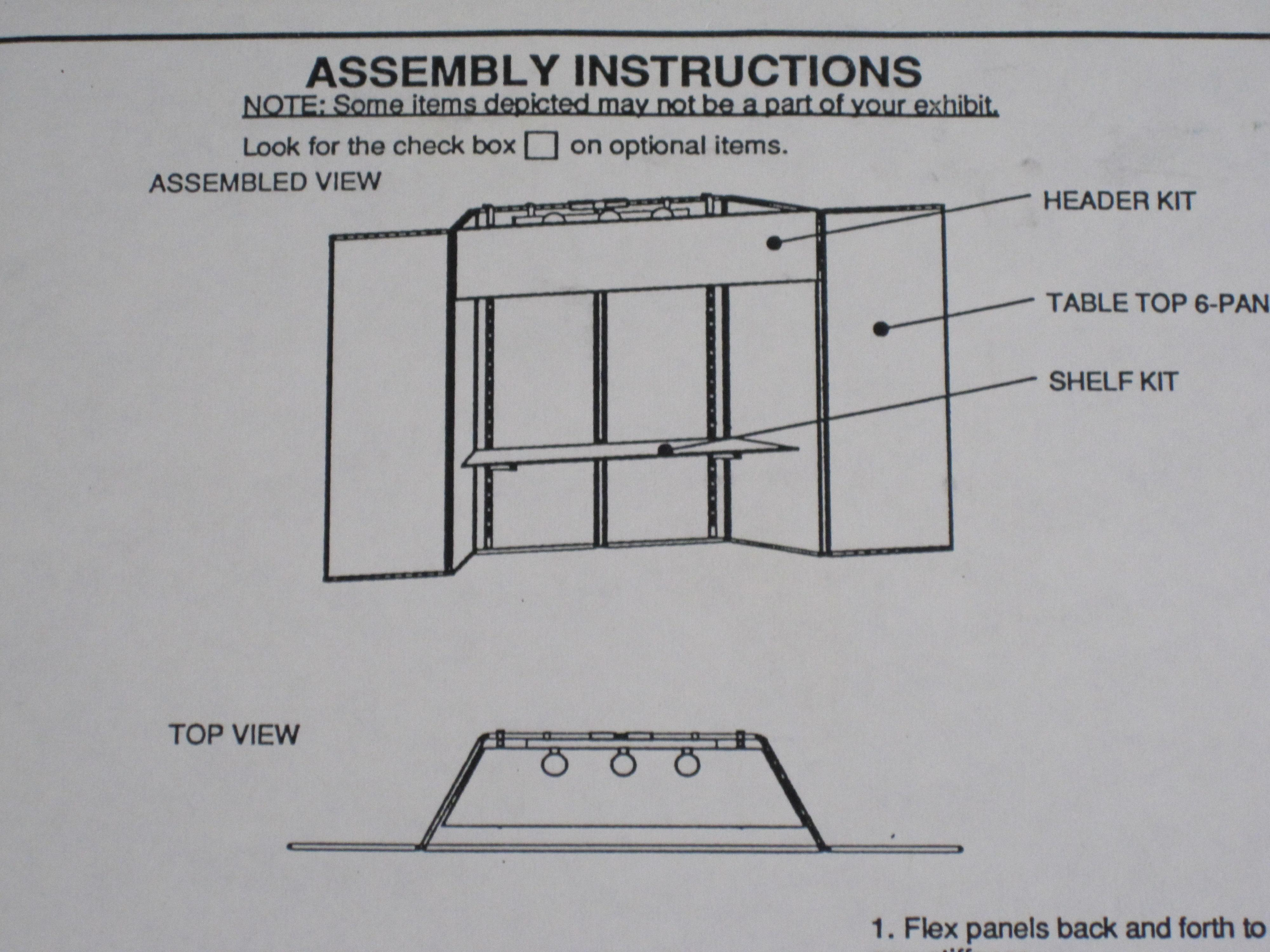 Maroon Display Board Assembly Instructions